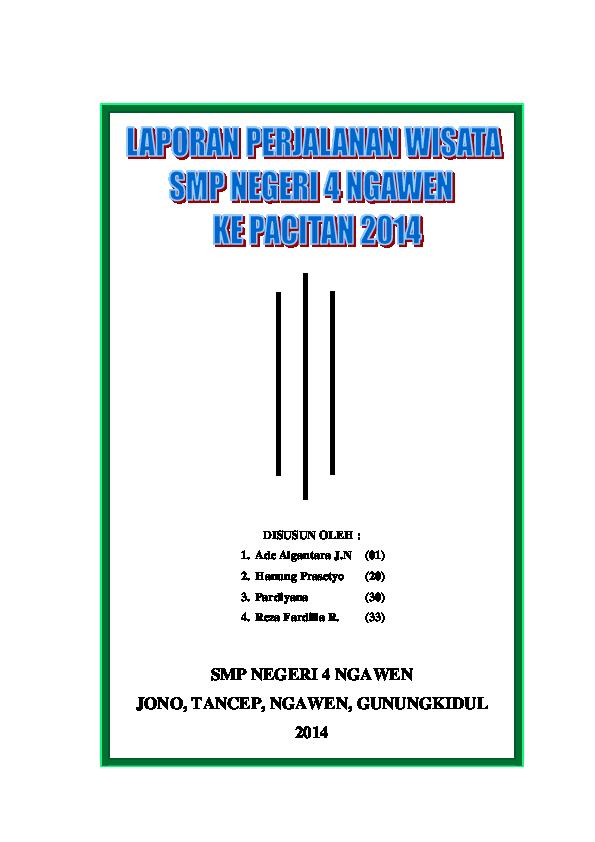 Doc Laporan Perjalanan Ke Pacitan Oke Sanuri Sankom Academia Edu