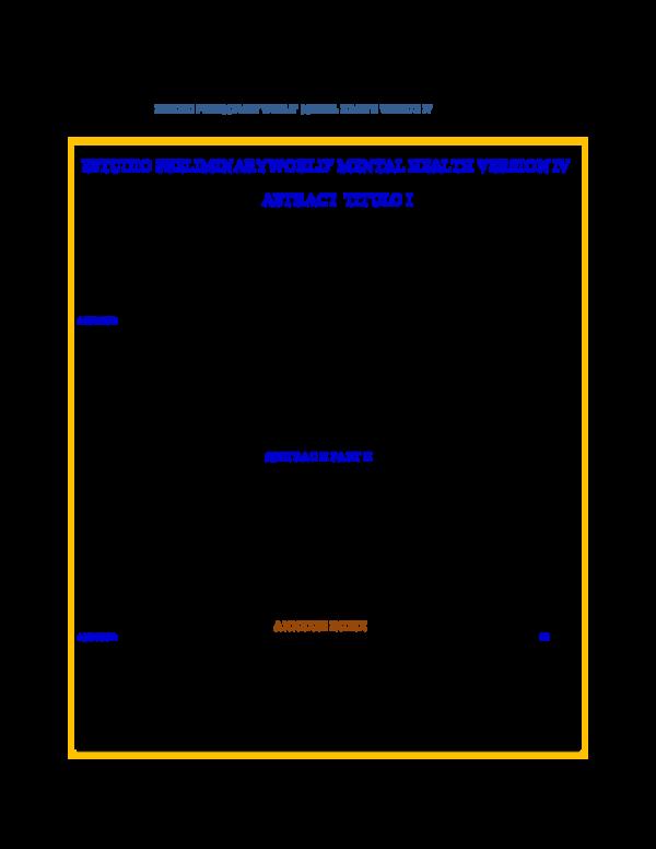 PDF) ESTUDIO PRELIMINARY WORLD' MENTAL HEALTH VERSION IV