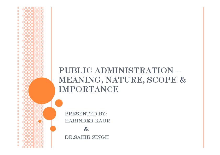 Public administration term papers