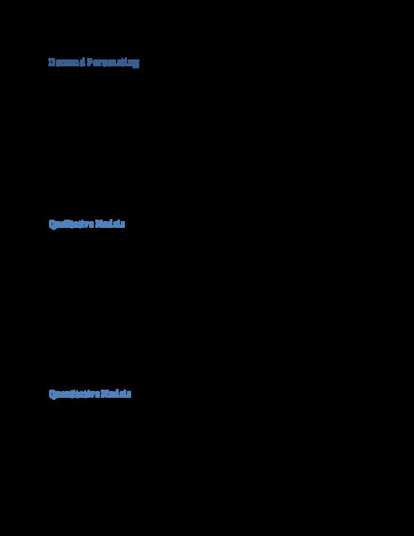 PDF) Demand Forecasting | GINA CAMPBELL - Academia edu