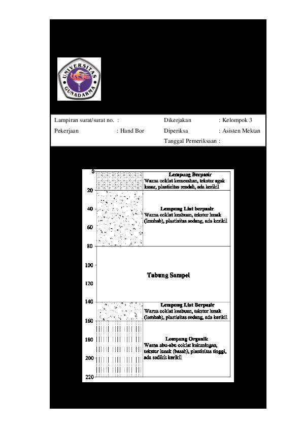 Doc Boring Log Siti Irmawati Academia Edu