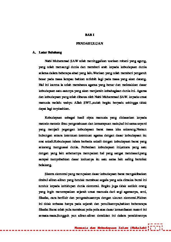 Doc Islam Dan Kebudayaan Islam Putry Larasanti Academia Edu