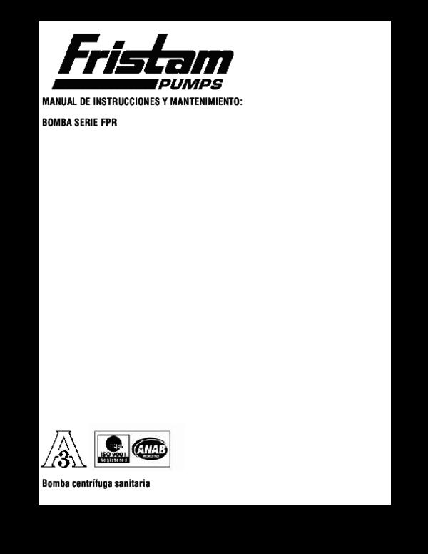 (PDF) Bomba serie FPR MANUAL DE INSTRUCCIONES Y