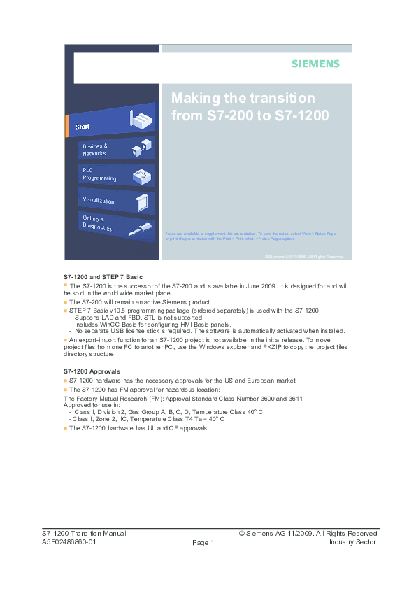 PDF) Making the transition from S7-200 to S7-1200 | hai pham