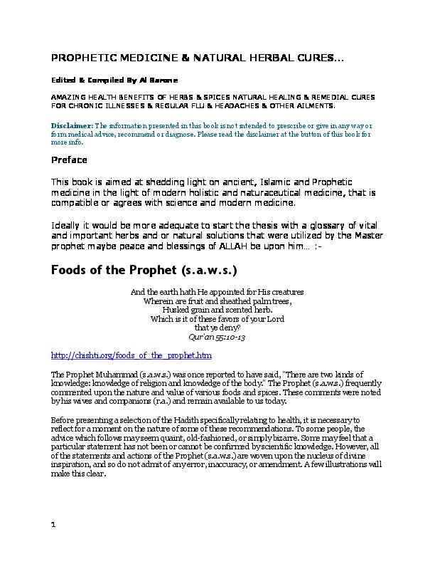 7c8f8ac06133e1 DOC) Pt - 8 . Prophet Medicine