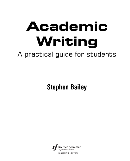 PDF) Academic Writing A practical guide for students | Isabel Muñoz
