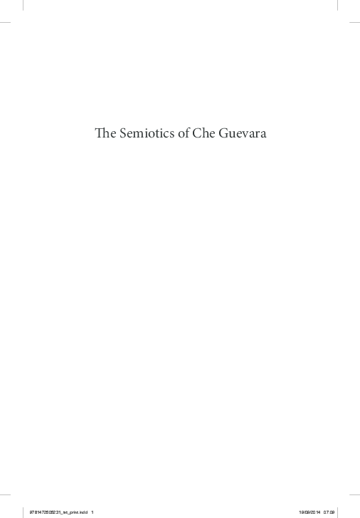 a7750f1005 PDF) Semiotics of Che Guevara   Affective Gateways (Final Proofs ...