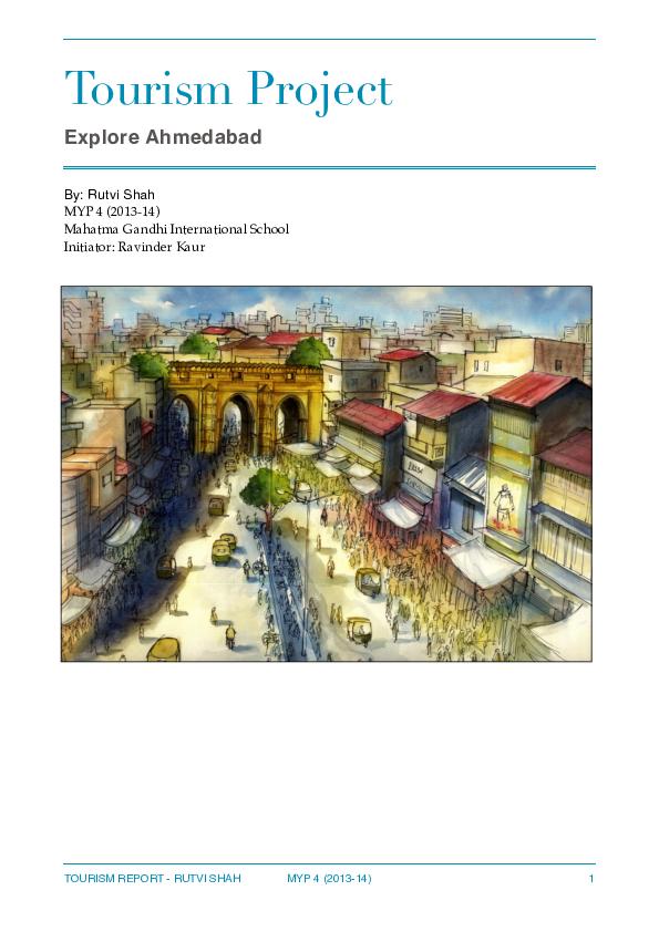 PDF) Tourism Report - IB MYP 4 | Rutvi Shah - Academia edu