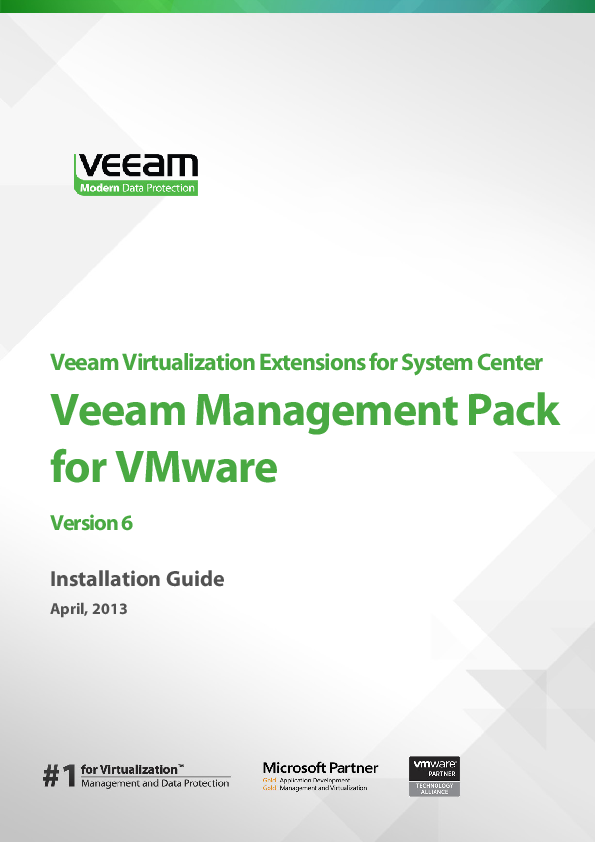 PDF) Veeam Virtualization Extensions for System Center Veeam