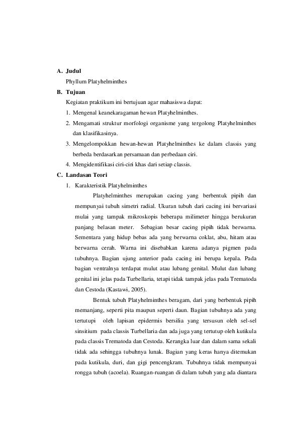 Laporan filum platyhelminthes, Fergie interview ellen