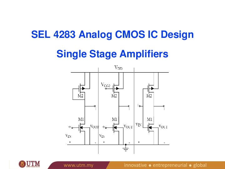 PPT) Single Stage Amplifier   Asri Yasin - Academia edu