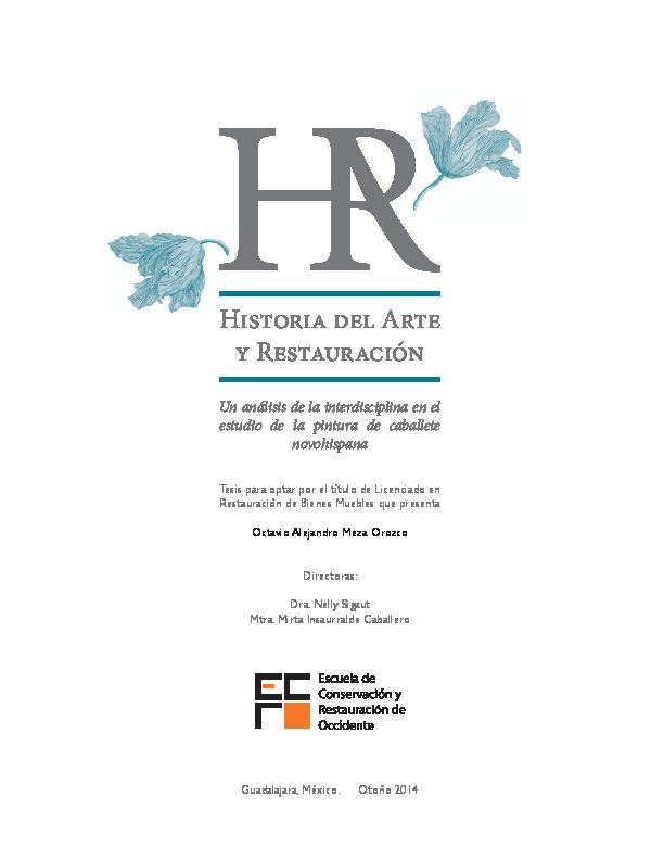 (PDF) Historia del arte y Restauración. Un análisis de la