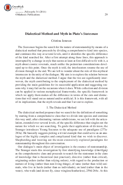 Platos Practice of Philosophical Inquiry Dialectic and Dialogue
