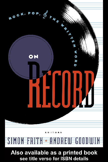 PDF) [Simon Frith, Andrew Goodwin] On Record Rock, Pop(Book
