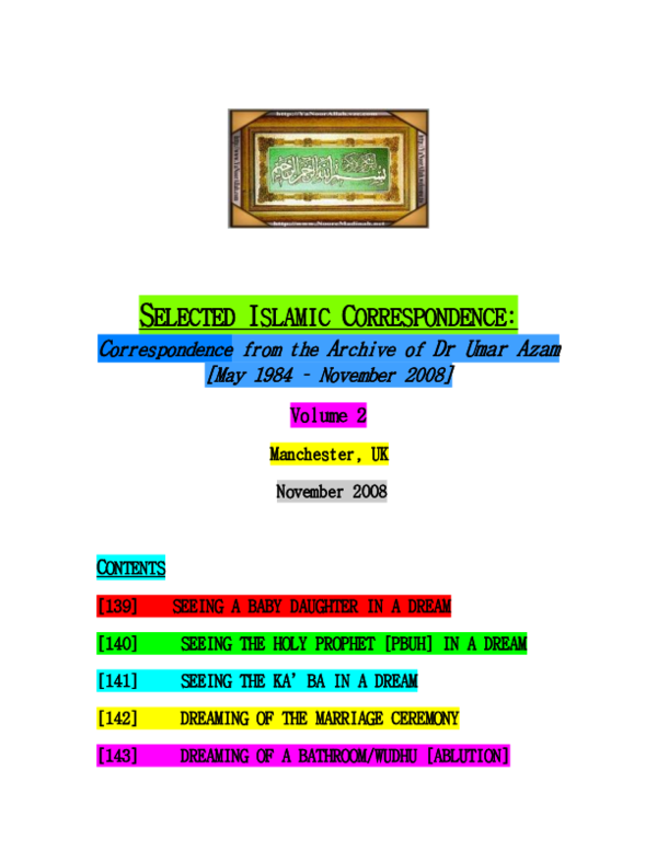 PDF) VOL  2 OF SELECTED ISLAMIC CORRESPONDENCE | DR UMAR E