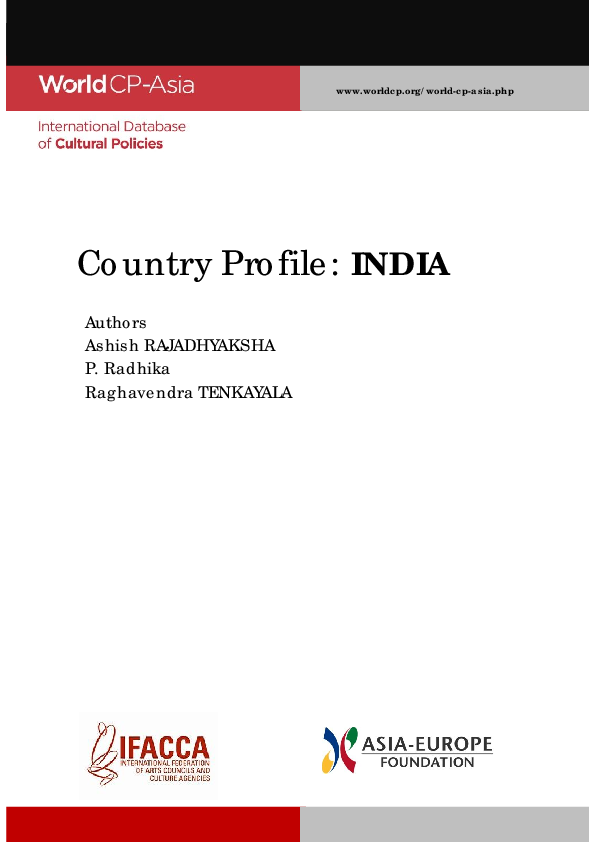 PDF) International Database of Cultural Policies: Country Profile