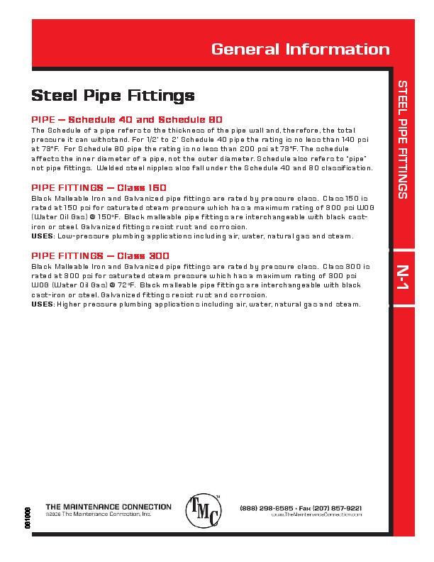 PDF) STEEL PIPE FITTINGS General Information Steel Pipe