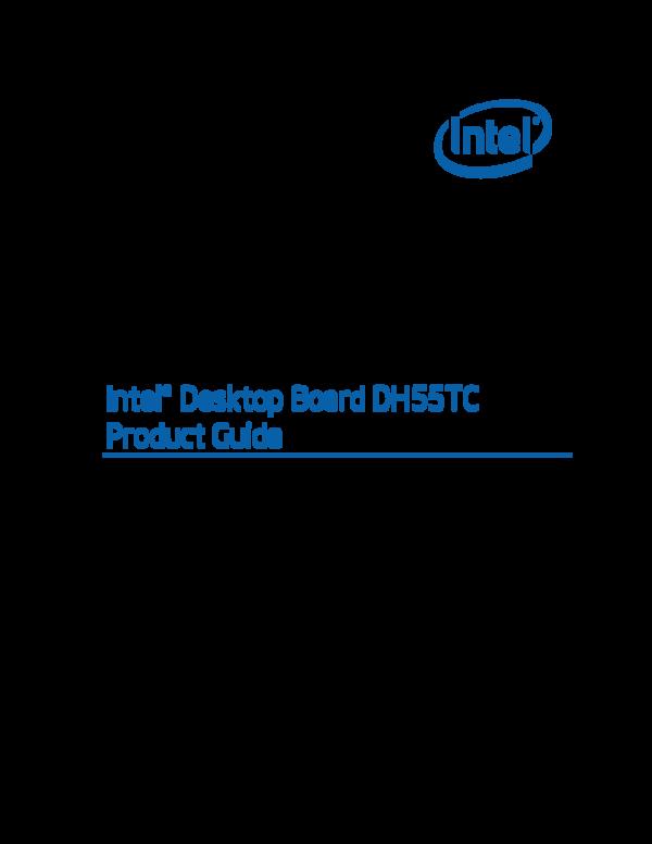intel desktop board drivers dh55tc