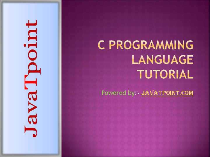 PPT) C Progragramming language Tutorial ppt for beginners