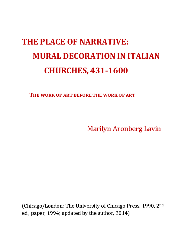 The Place Of Narrative Mural Decoration In Italian Churches 431