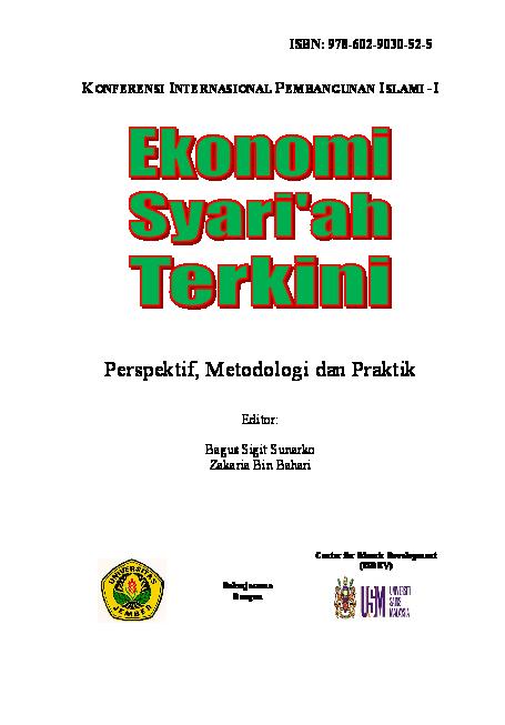 Pdf Jurnal Internasional Ekonomi Islam Ahmad Syarifudin Academia Edu