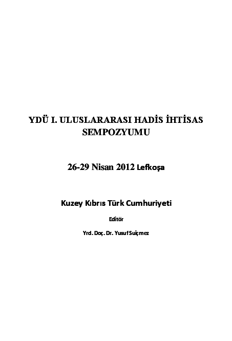Pdf Hadislerin Güncel Değeri The Actual Value Of Hadiths Yusuf