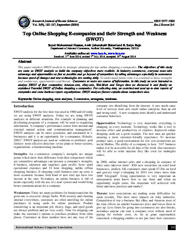 PDF) Amazon SWOT | Maggie Kam - Academia edu