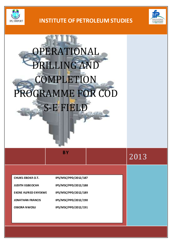 PDF) INSTITUTE OF PETROLEUM STUDIES BY 2013 OPERATIONAL