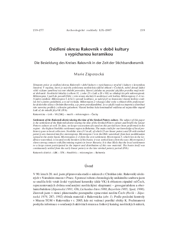 LBK and the Bükk culture Pri datovaní hrobov z pohrebiska v Pittene možno vychádzať z datovania bronzo-.