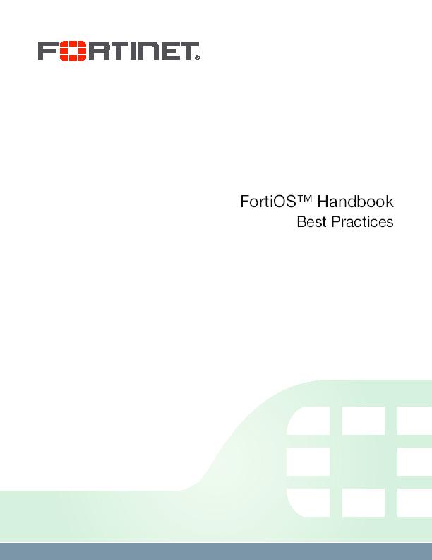 PDF) Fortinet best practices 52 | Felipe Abastante