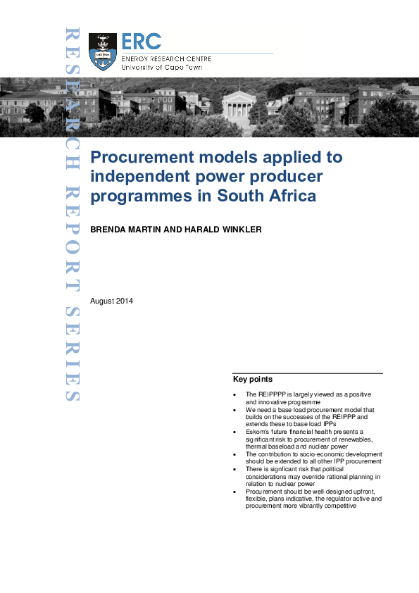 PDF) Procurement models applied to independent power
