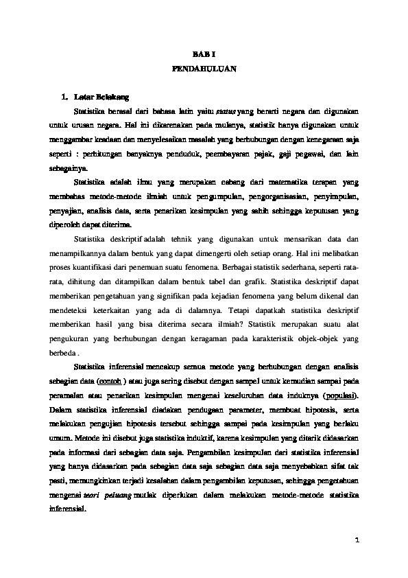 Doc Makalah Statistik Angel Hidayah Academia Edu
