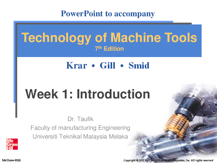 Pdf Powerpoint To Accompany Technology Of Machine Tools 7 Th