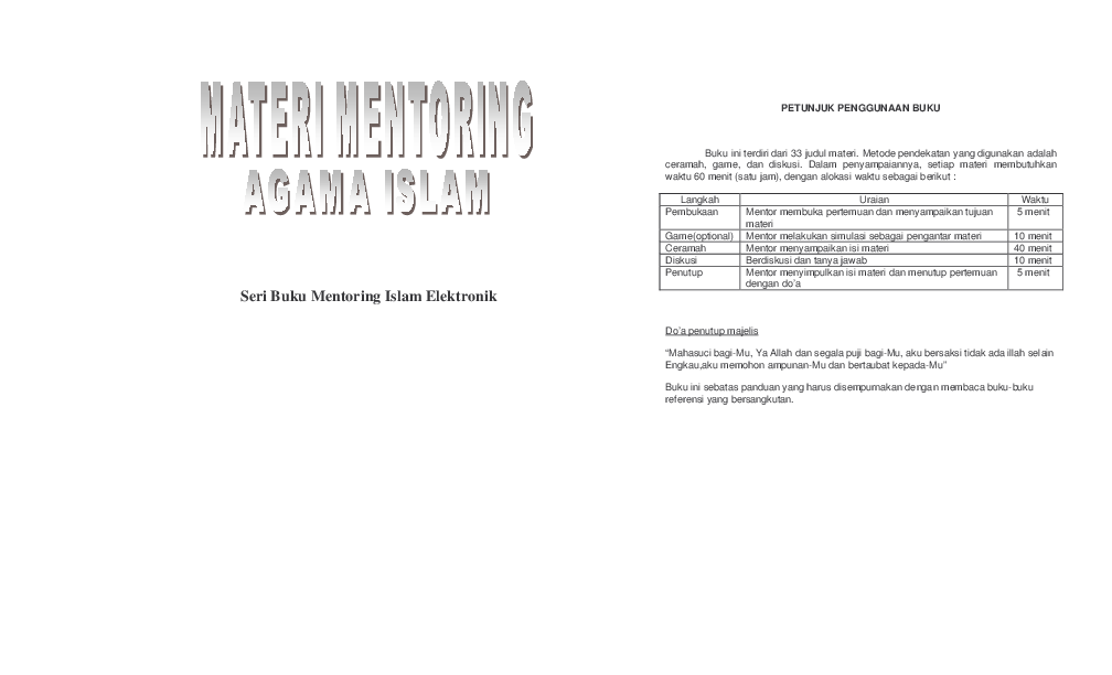 Pdf Buku Mentoring Islam Elektronik 1 1 Dani Irawan Academiaedu