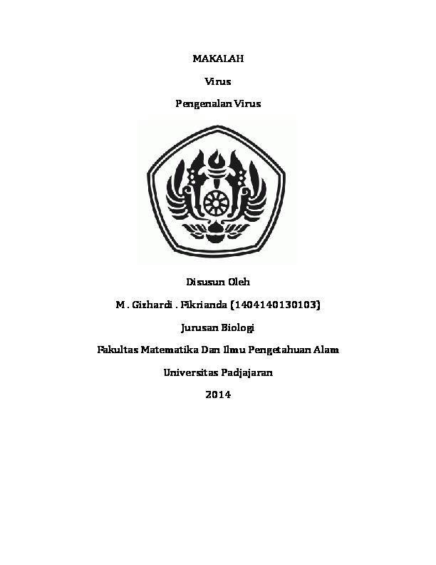 Doc Makalah Pengenalan Virus Gizhardi Fikrianda Academia Edu