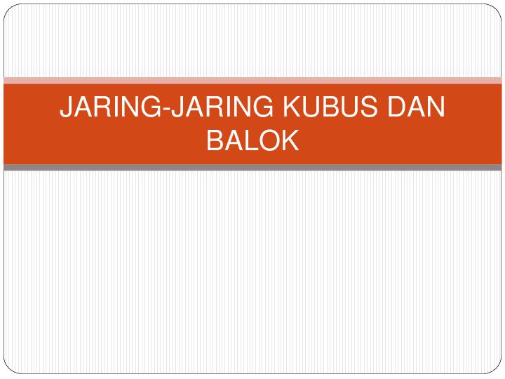 Jaring Jaring Kubus Dan Balok Maulany Tifa Academia Edu