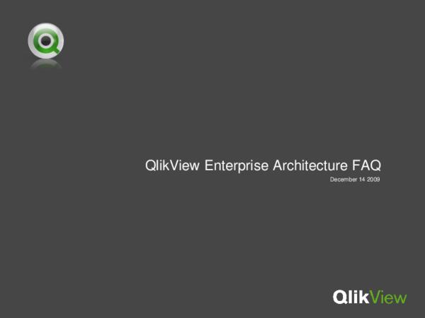 PPT) Qlik View-Architecture | Aji Kus Bandono - Academia edu