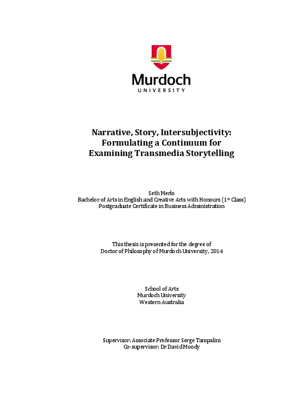 PDF) Narrative, Story, Intersubjectivity: Formulating a
