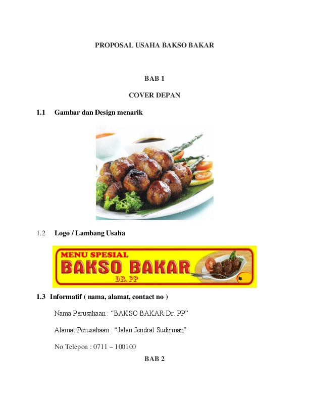 Doc Proposal Usaha Bakso Bakar Randi Poernomo 2011250003