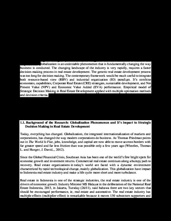 PDF) Strategic Real Estate Development - Hastjarjo | Kelik