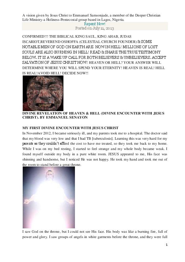 DOC) A vision given by Jesus Christ to Emmanuel Samsonjude