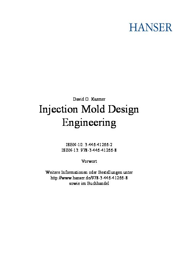 PDF) Injection Mold Design Engineering   saeed Mohammadi