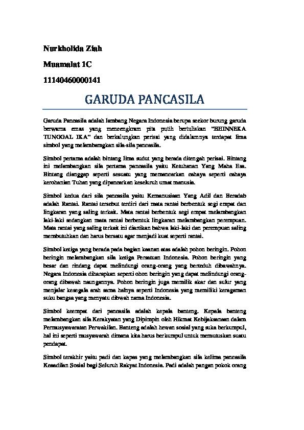 Doc Garuda Pancasila Zeah Potter Academia Edu
