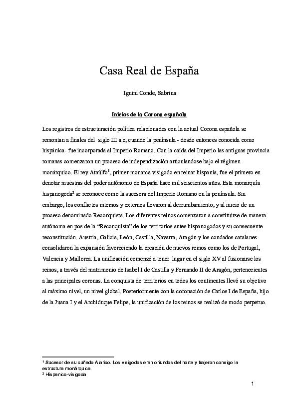 Pdf Casa Real Española Sabrina Iguini Academia Edu