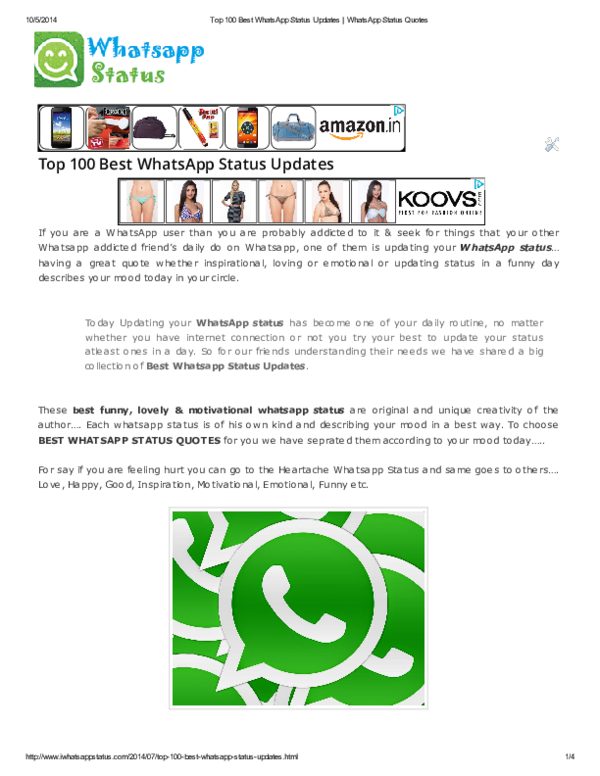 Pdf Best Whatsapp Status Updates Aditya Soni Academiaedu