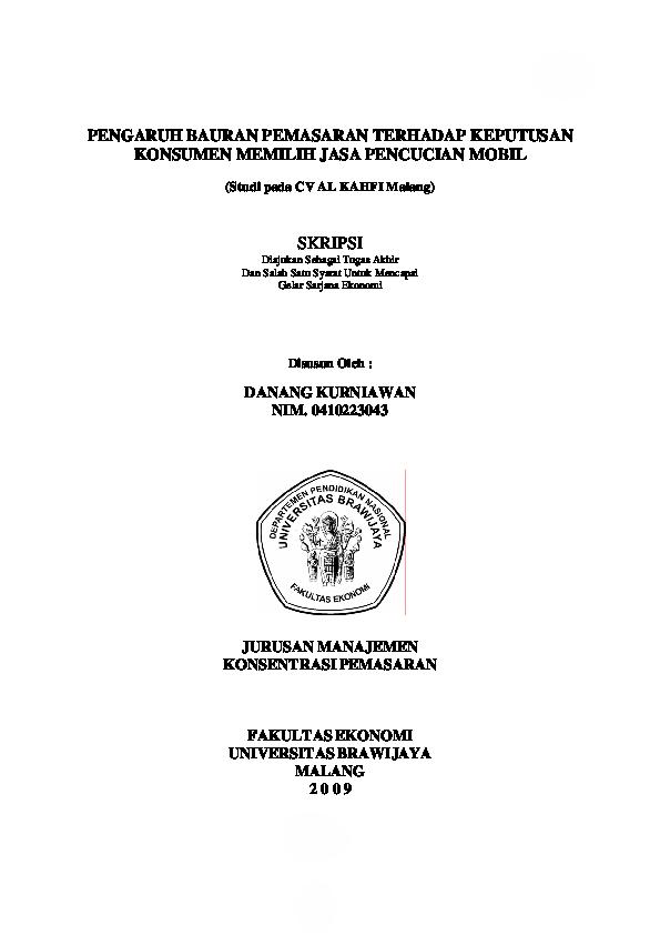 Doc Contoh Skripsi Sitiahwa Liah Academia Edu