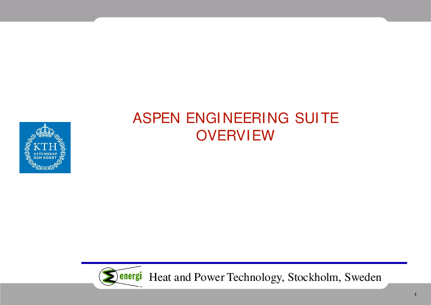 PDF) Aspen Custom Modeler overview   Adhemar Araoz