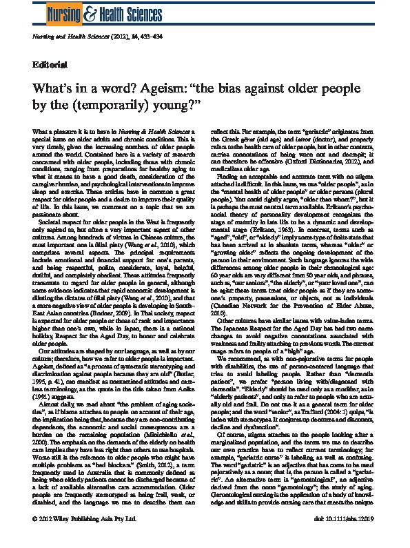 ageism definition pdf