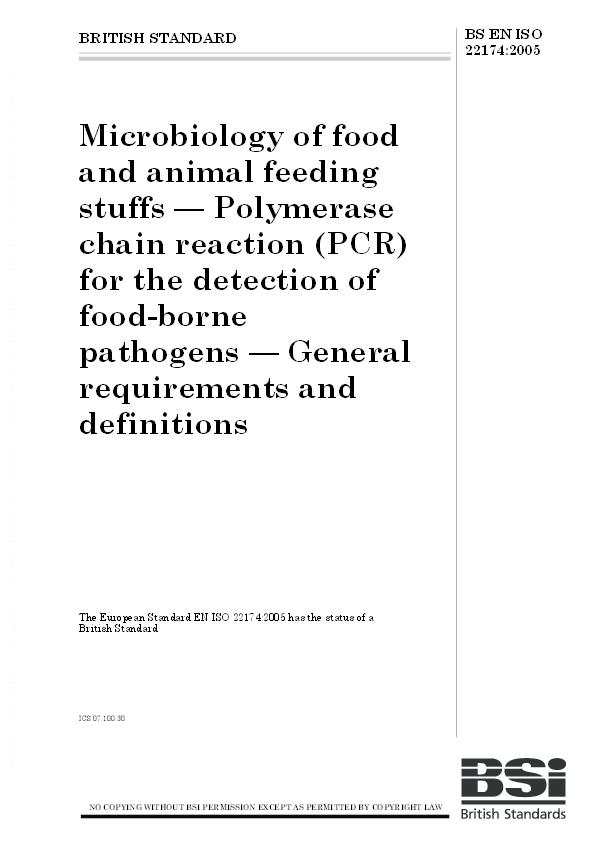 PDF) Microbiology of food and animal feeding stuffs