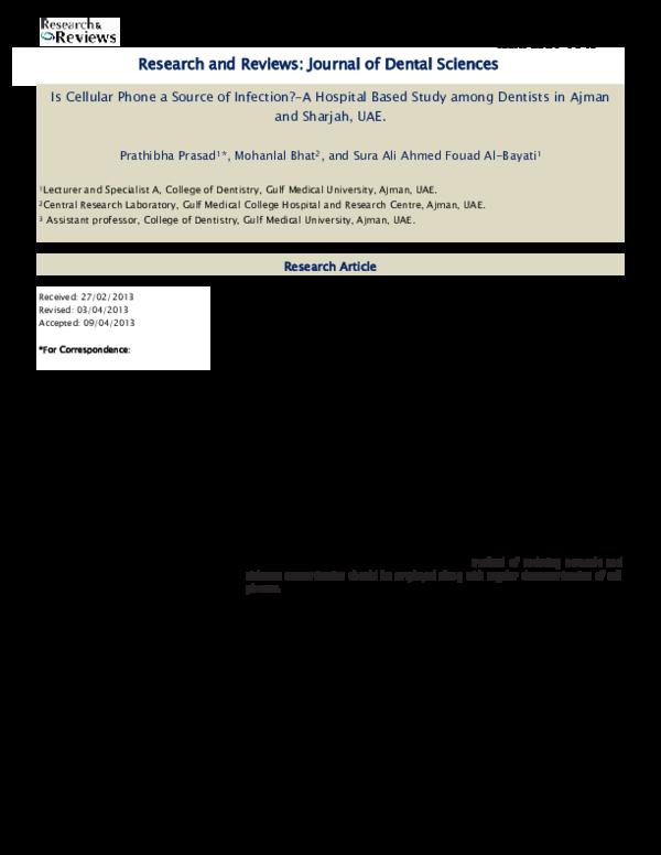 PDF) Cellular phone | Mohanlal Bhat and Pratibha Prasad - Academia edu
